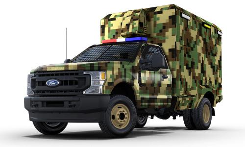 RSV aluminium box type life support ambulance