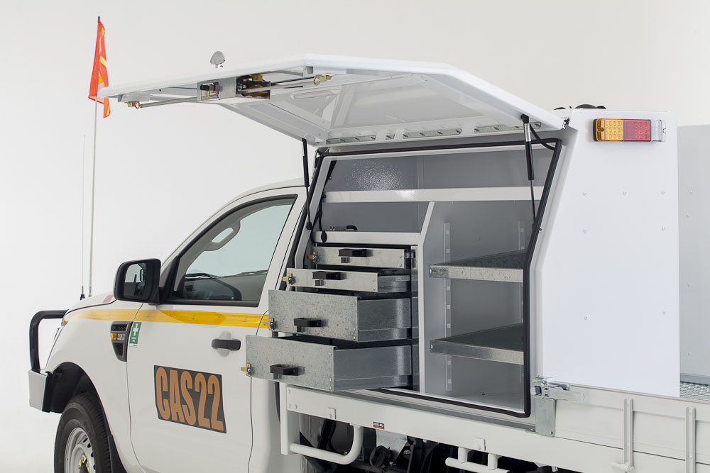 Studio - Ford PX Ranger Single Cab - Service Box Decal Repeater Lights (2)