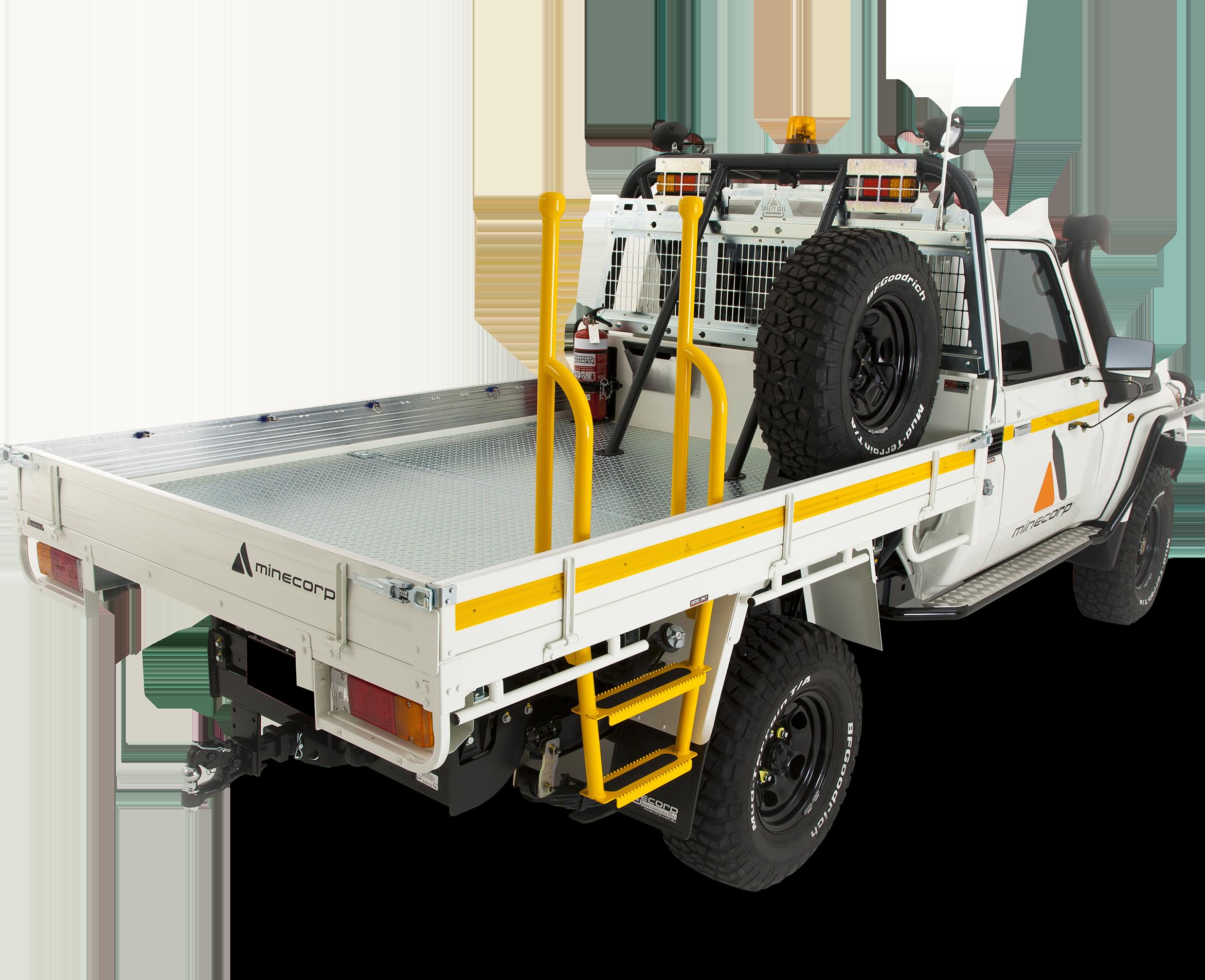 Studio - Toyota Landcruiser 79 Single Cab - Ladder Tray Reflective Tape (2)